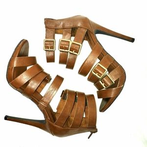 Mossimo Brown strappy heels. Size 7.5